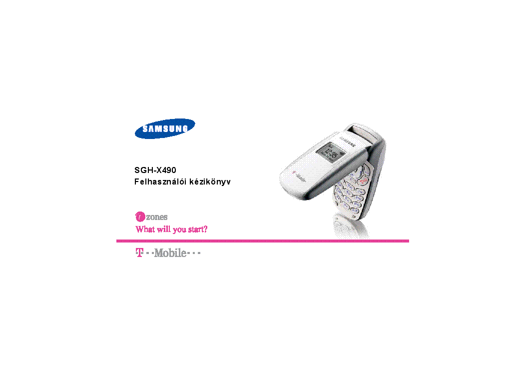 SAMSUNG SGH-X490 USERMANUAL HU Service Manual download