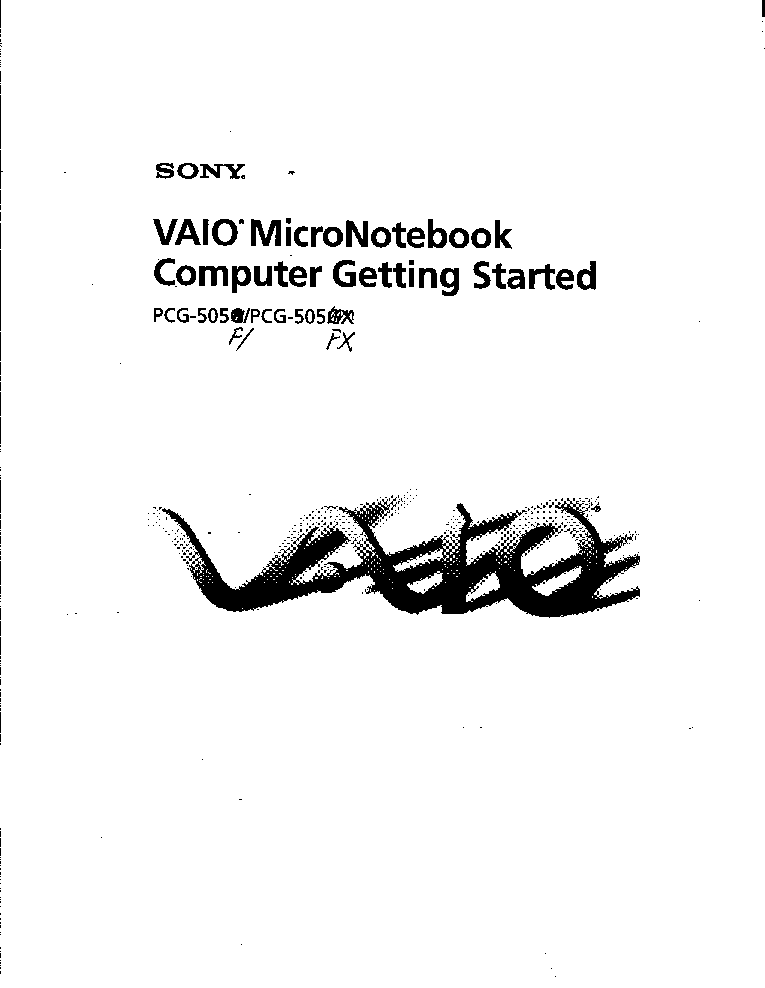 SONY VAIO PCG-505F-FX USERMANUAL Service Manual download