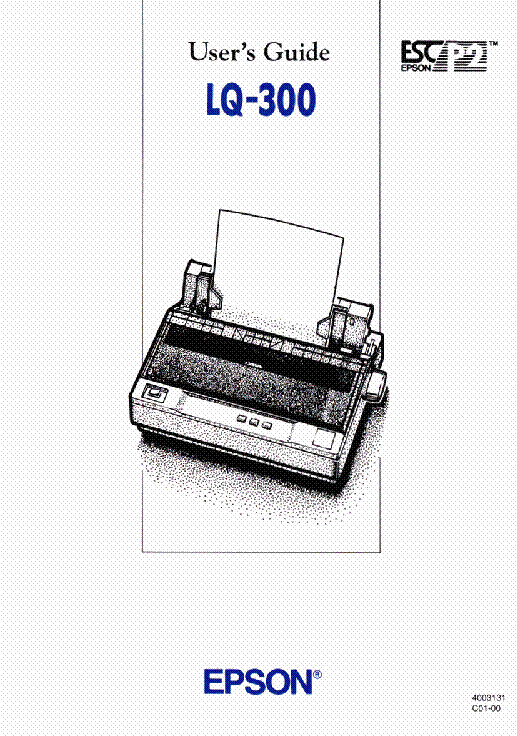EPSON LQ-680 LQ-680PLUS USERS GUIDE Service Manual