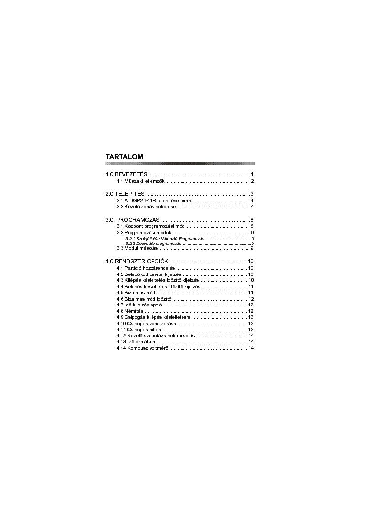 PARADOX DGP2641R EI00 Service Manual download, schematics