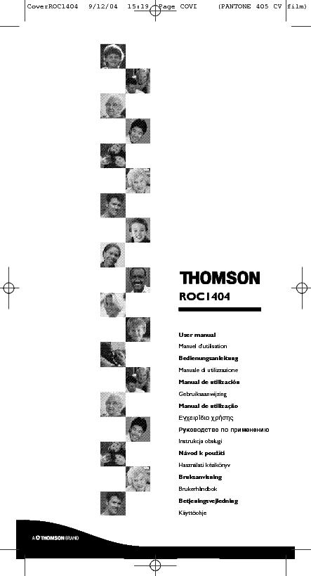 THOMSON RCT311 TA1G ENG USER MANUAL Service Manual