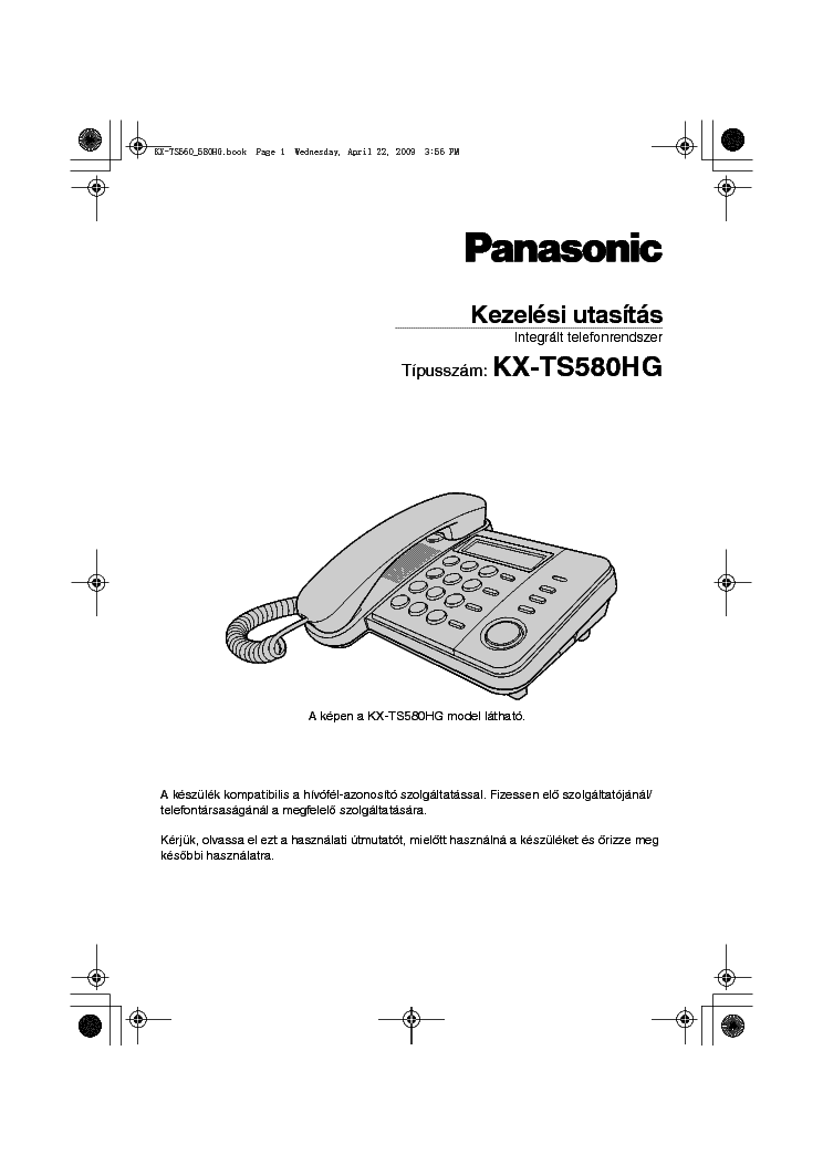 PANASONIC KX-TS580HG Service Manual download, schematics