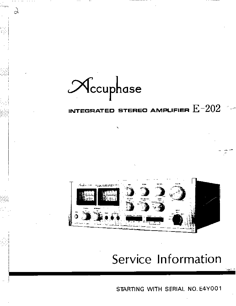 ACCUPHASE P-300 Service Manual download, schematics