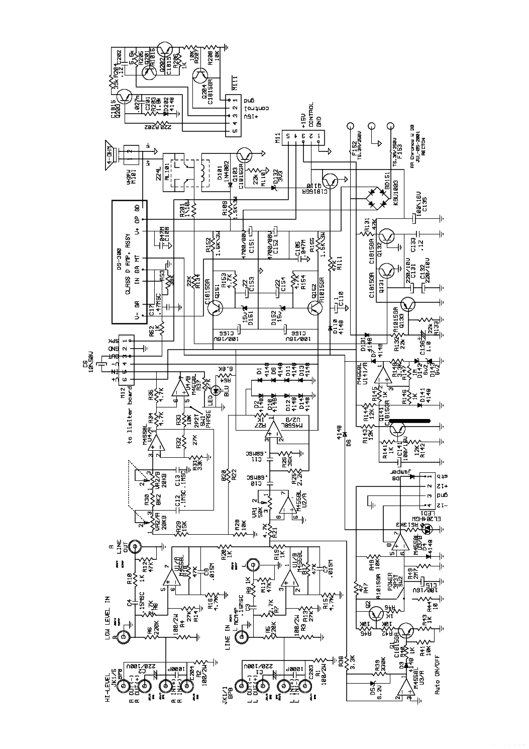 ACOUSTIC-RESEARCH CHRONOS W38 SCH LAYOUT Service Manual
