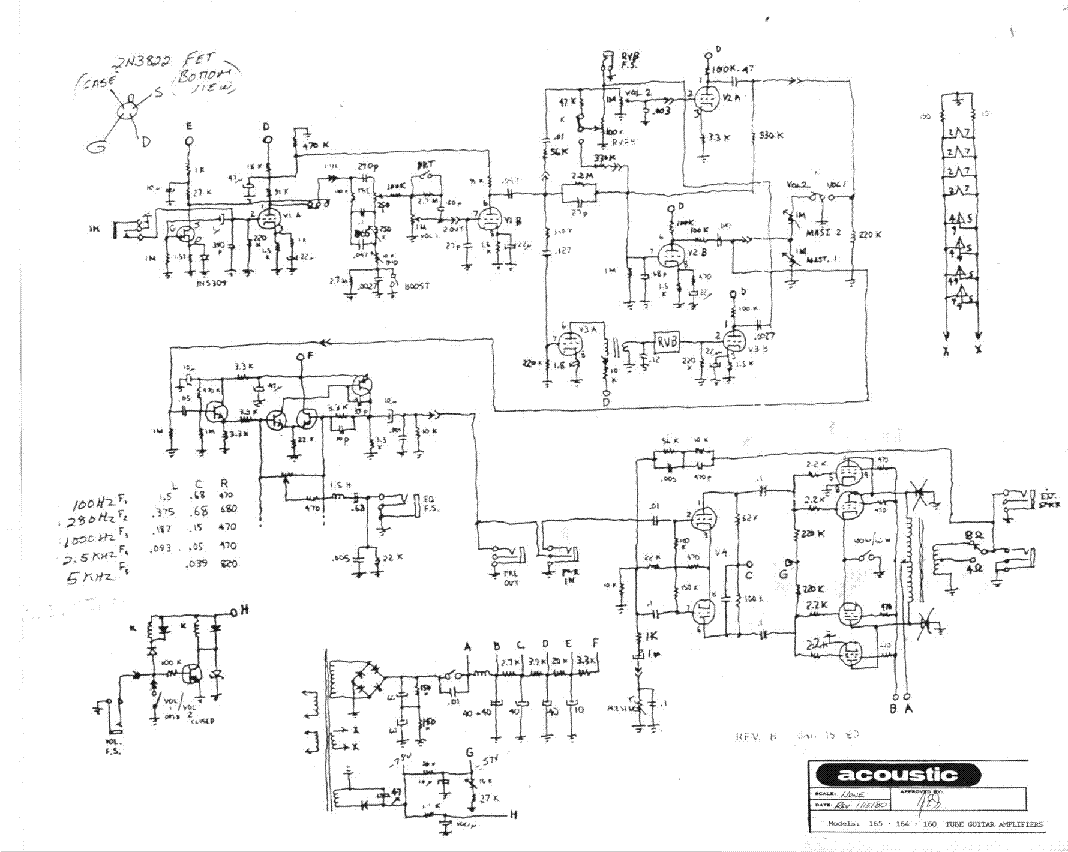 hight resolution of acoustic 165 164 160 1980 sch service manual download schematics acoustic 165 164 160 1980