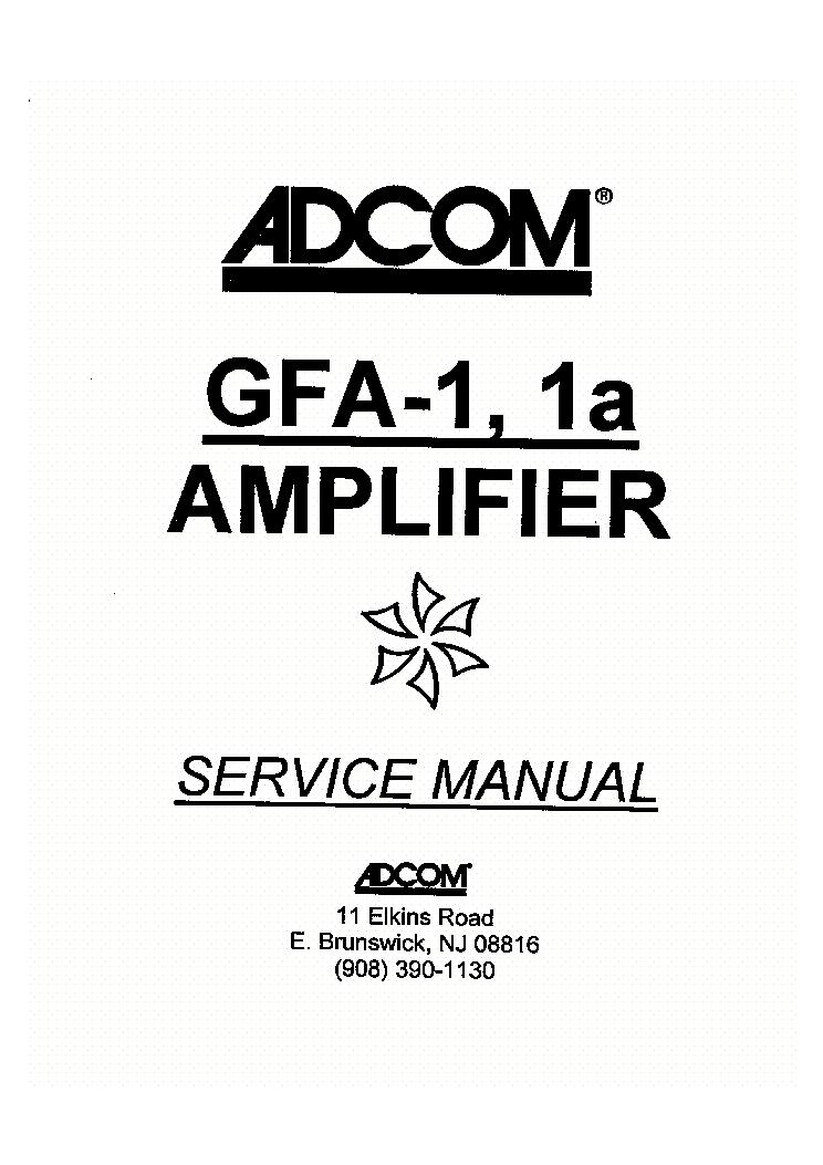ADCOM GFP-555 Service Manual download, schematics, eeprom