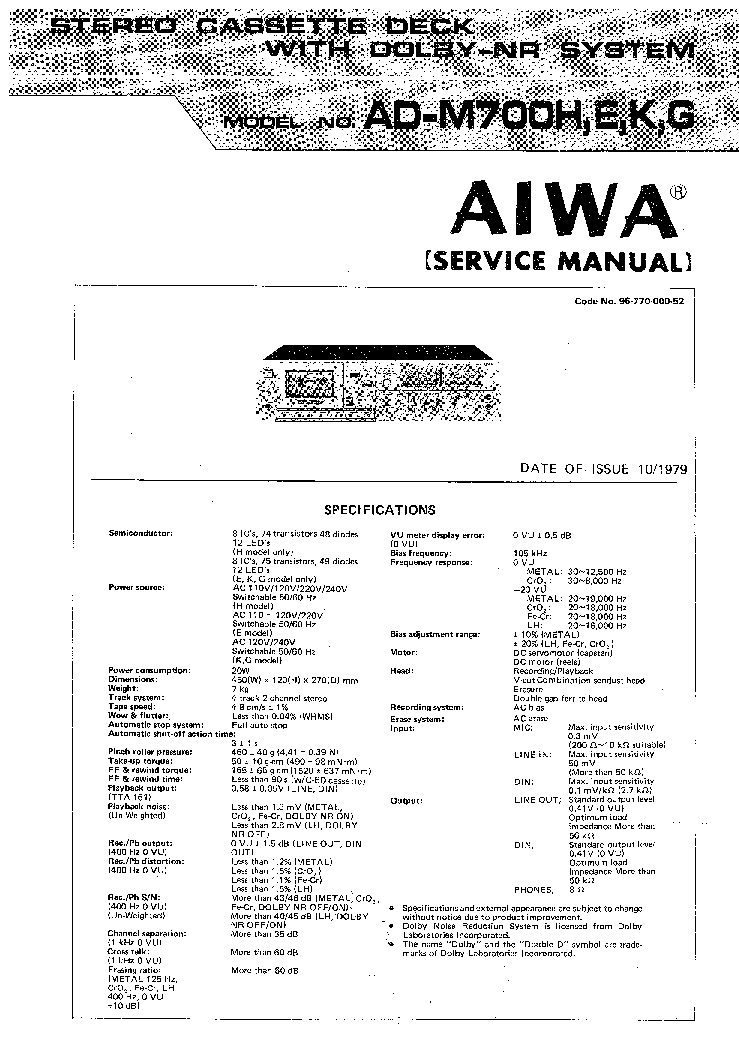 AIWA NSX-VC120 Service Manual free download, schematics