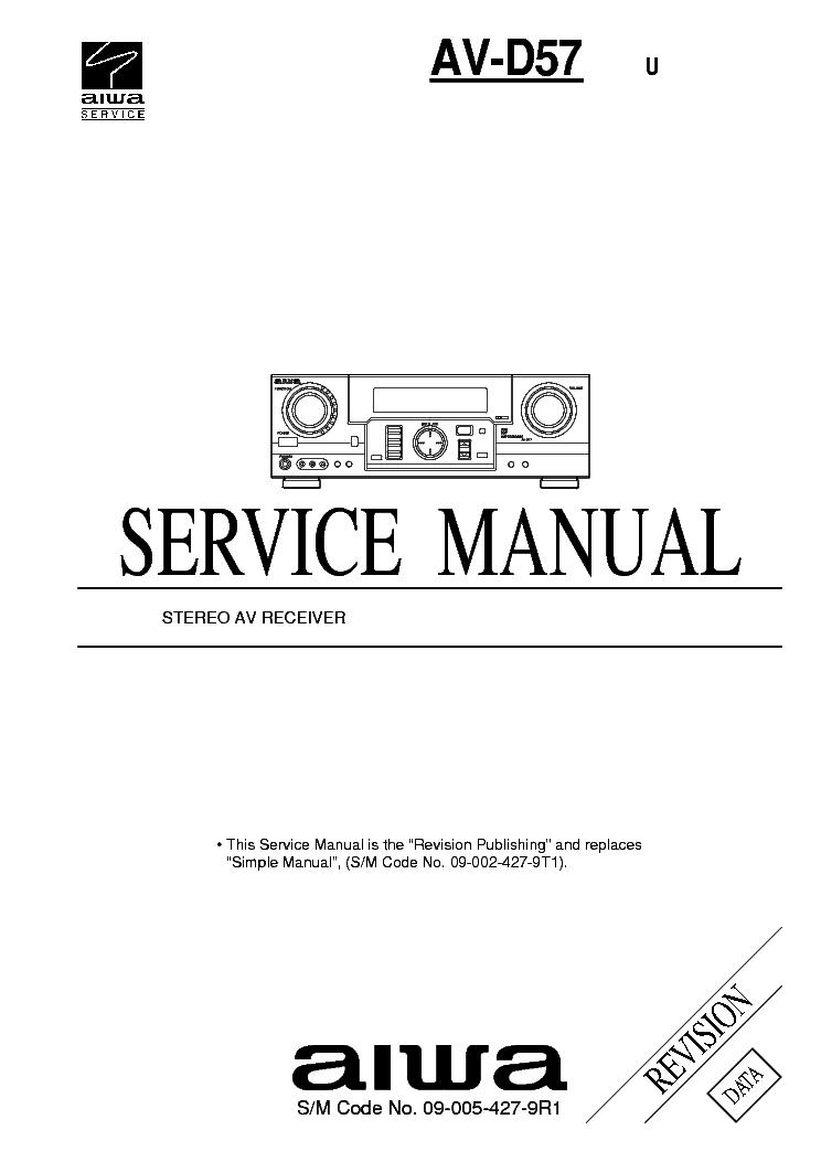 AIWA AV-D57 SM Service Manual download, schematics, eeprom