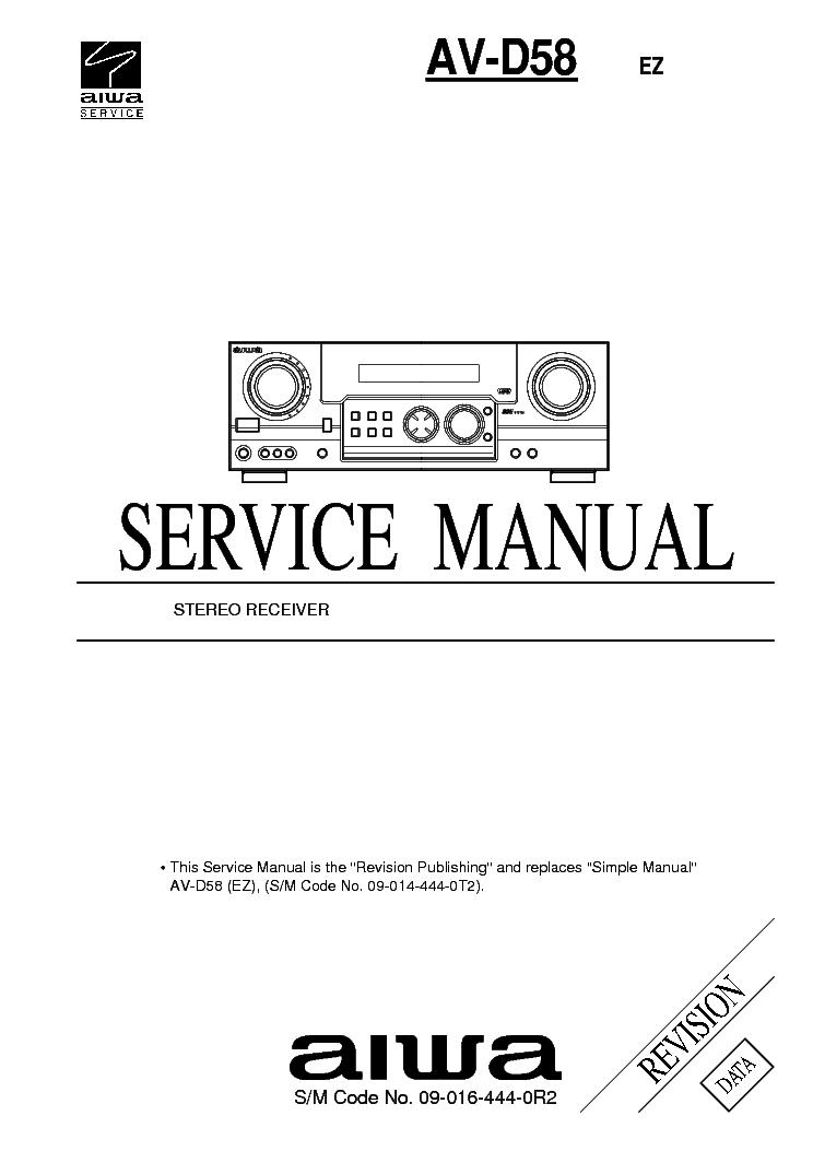 AIWA HS-TX525 HS-TX526 HS-TX527 HS-TX529 Service Manual