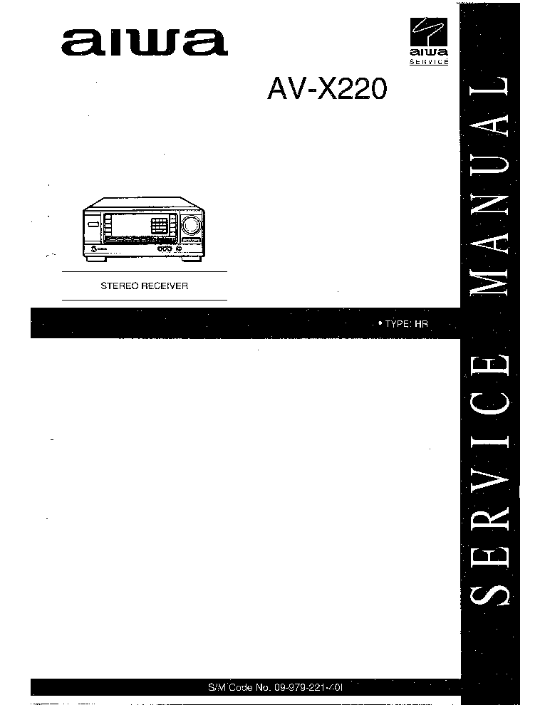 AIWA AV-X220 09-979-221-40I Service Manual download