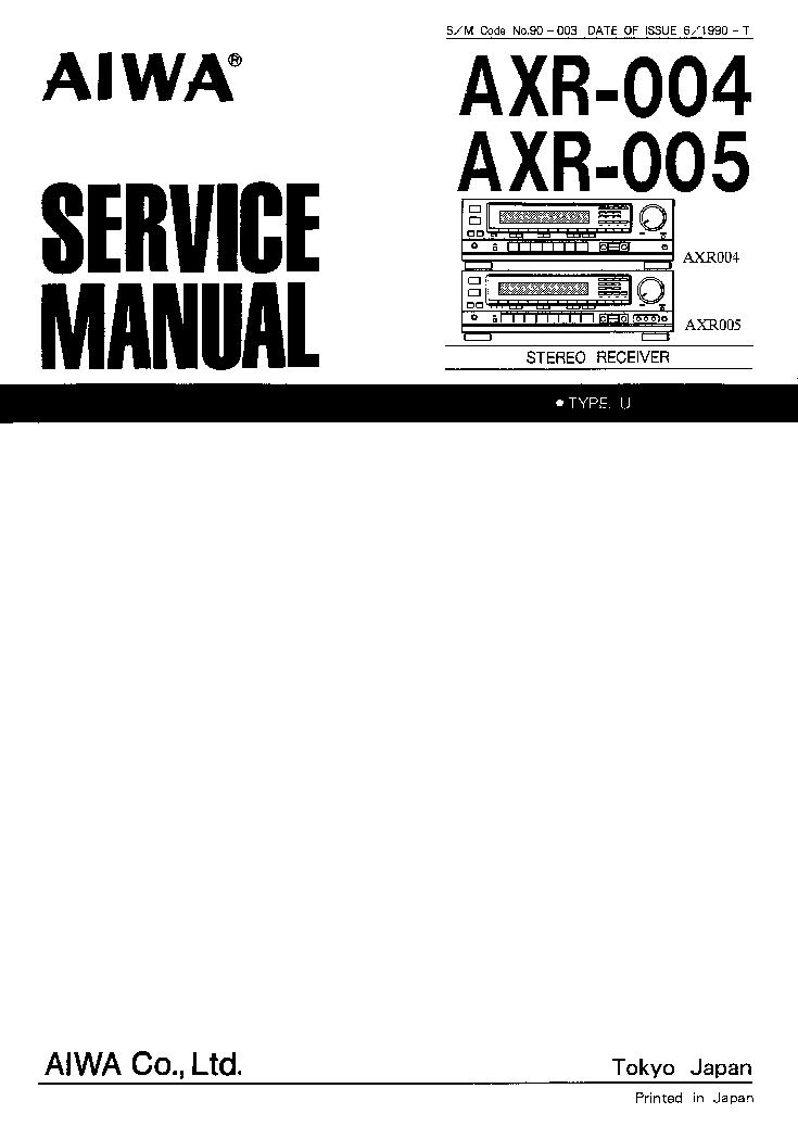 AIWA AXR-004 005 90-003 Service Manual download
