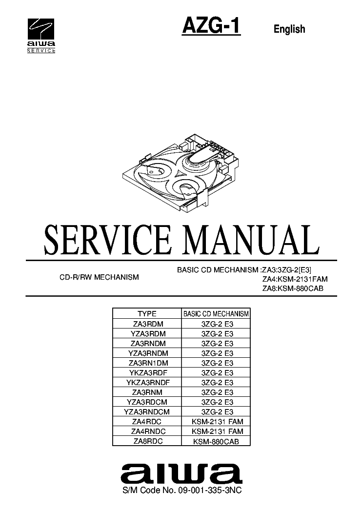 AIWA CA-DW530 Service Manual download, schematics, eeprom