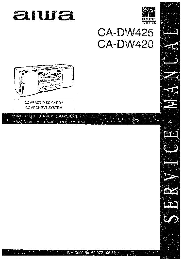 AIWA Z-650 670 CX-Z650 Z670 SM 2 Service Manual free