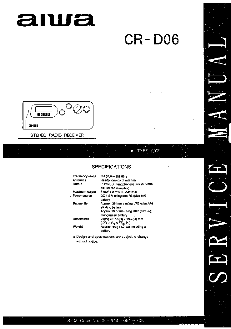 AIWA CX-NSZ200 Service Manual free download, schematics