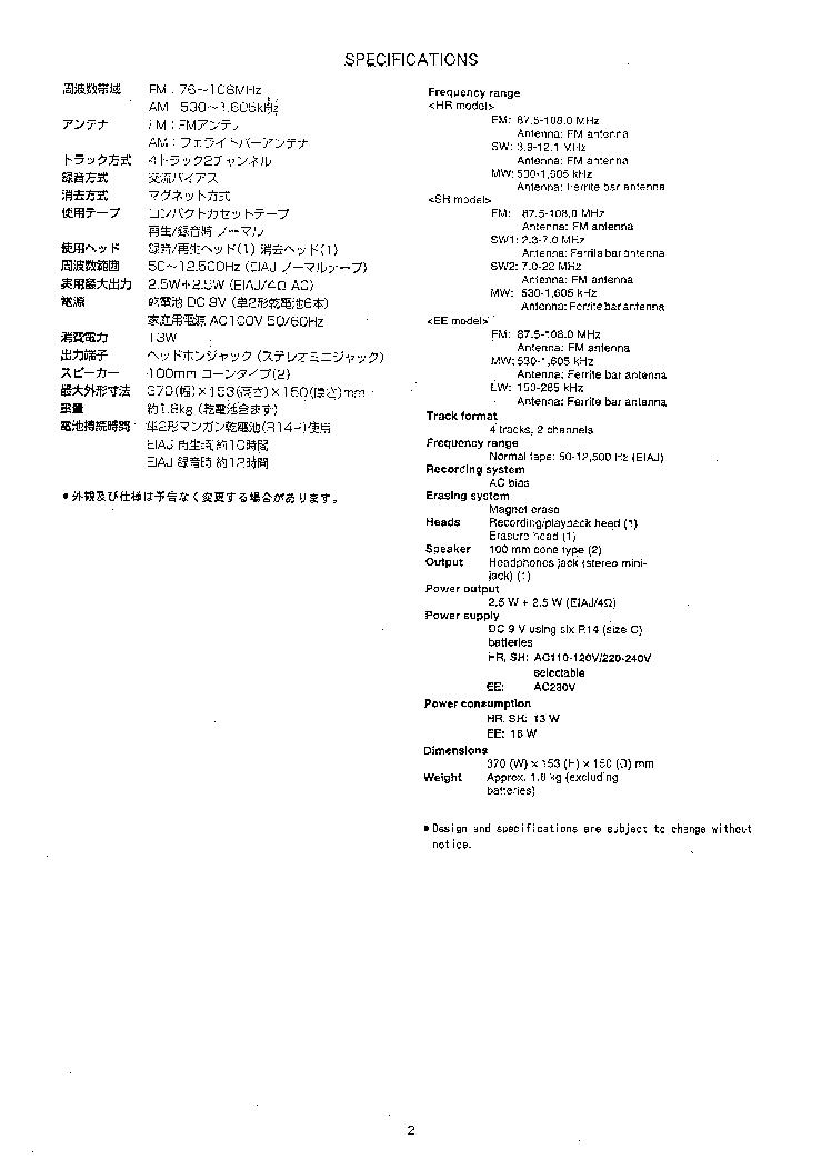 AIWA CS-R260 Service Manual download, schematics, eeprom