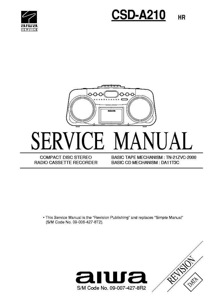 AIWA XR-H560MD Service Manual free download, schematics