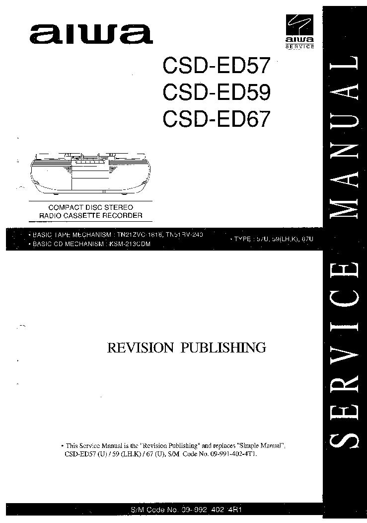 AIWA NSX-S909 SCH Service Manual free download, schematics