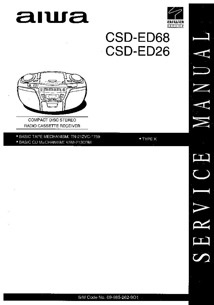 AIWA CX NSZ70LH Service Manual free download, schematics