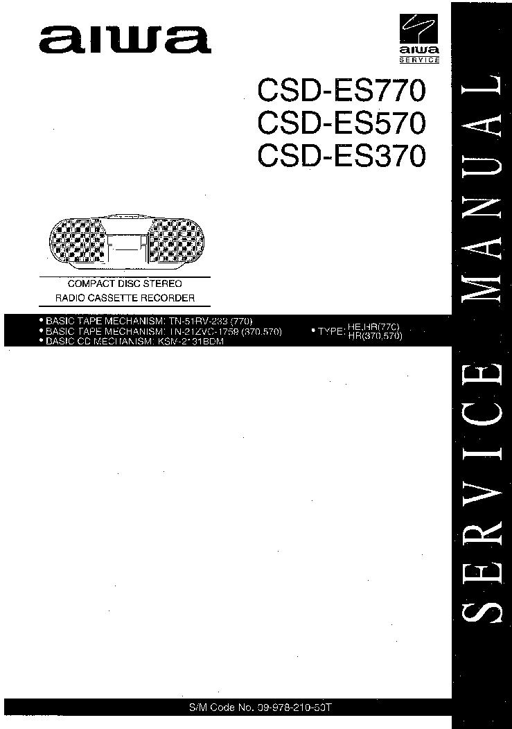 AIWA CSD-ES370 CSD-ES570 CSD-ES770 Service Manual download