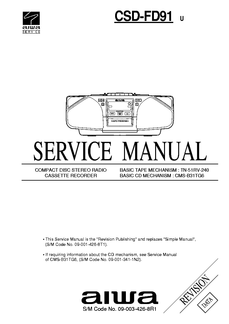 AIWA NSX-500 Service Manual free download, schematics