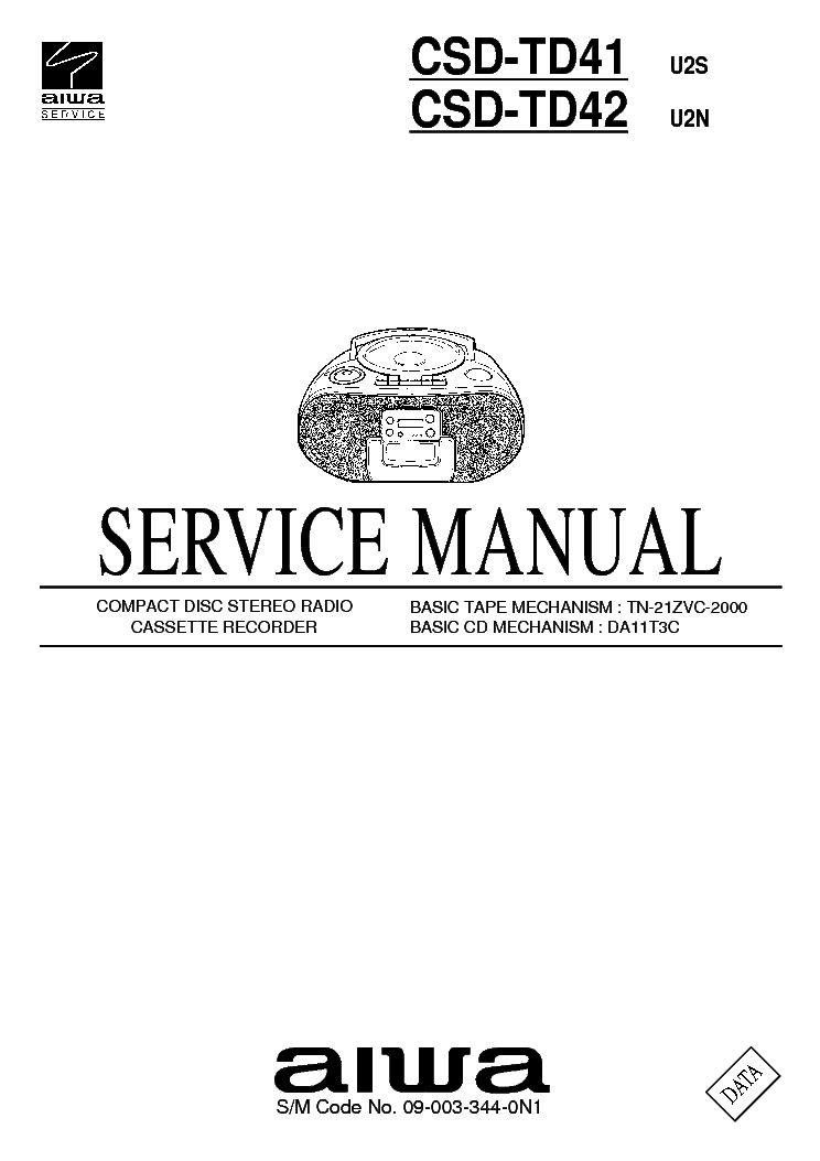 AIWA XR-M11 M12 Service Manual free download, schematics