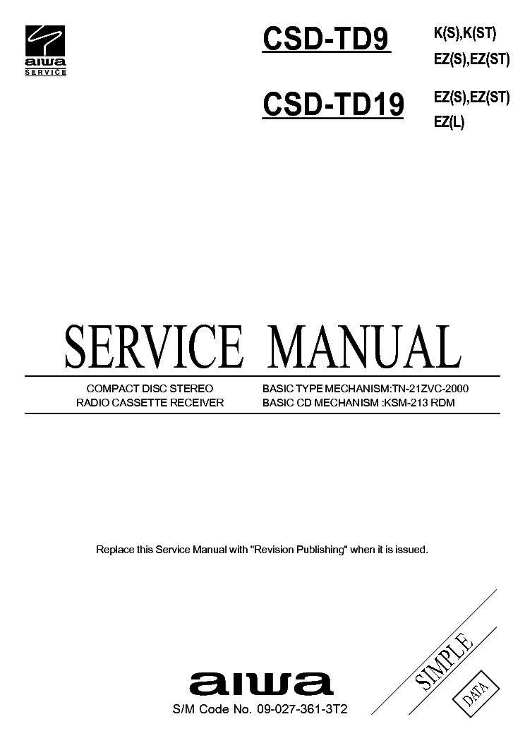 AIWA NSX-BL44,46,DR6 Service Manual download, schematics