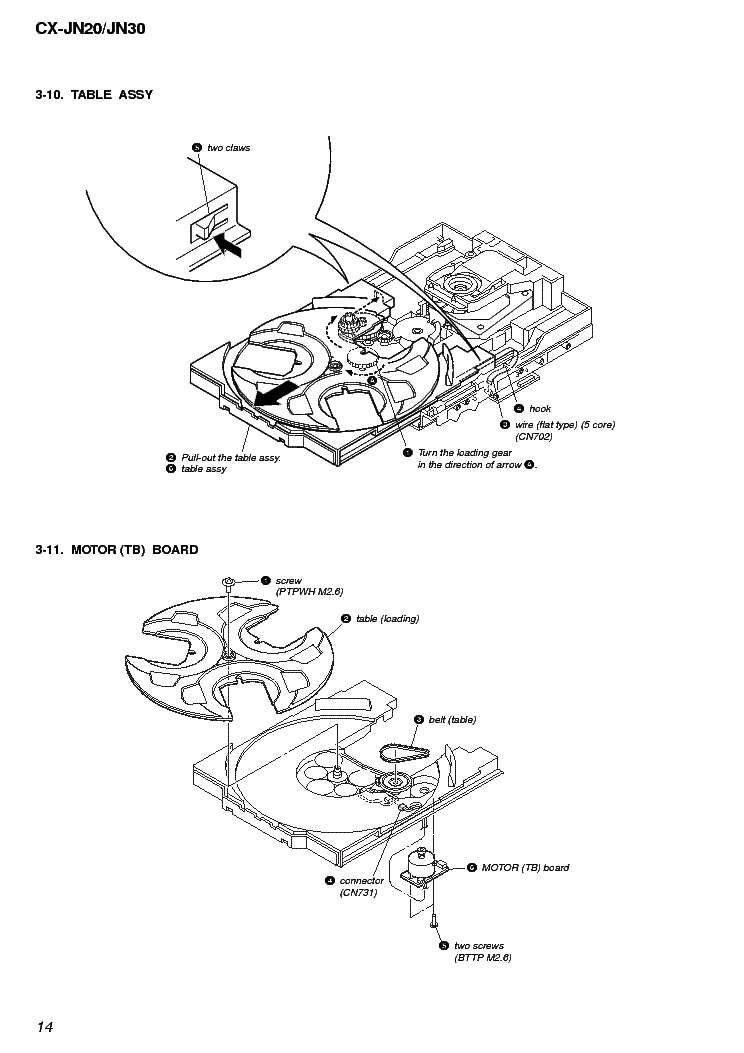 AIWA CX-JN20 JN30 Service Manual download, schematics