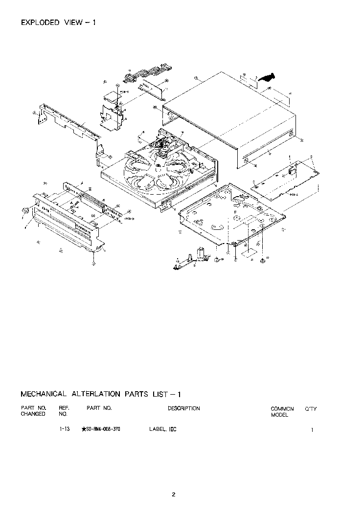 AIWA DX-M90M Service Manual download, schematics, eeprom