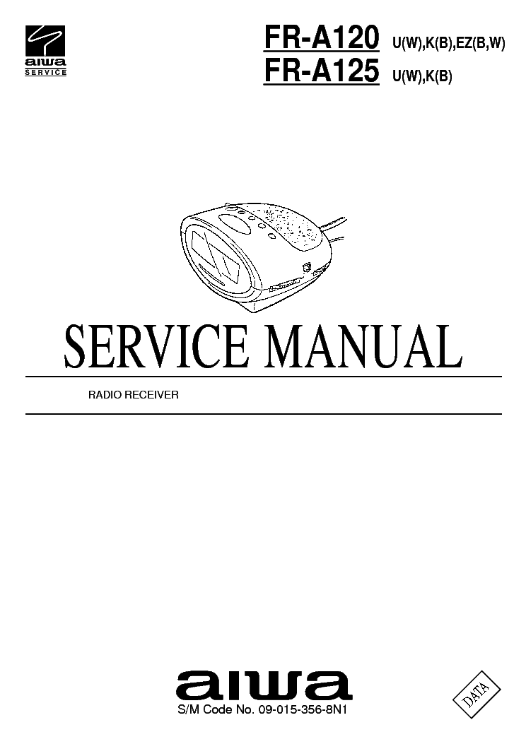 AIWA FR-A120 Service Manual download, schematics, eeprom