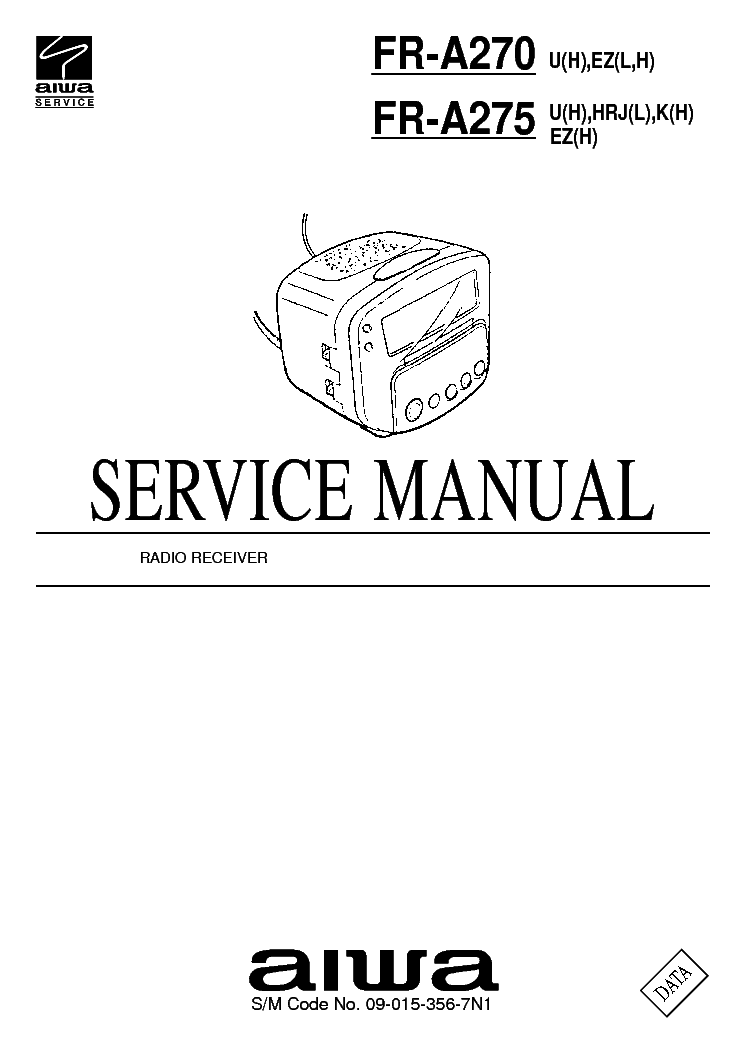 AIWA FR-A270 Service Manual download, schematics, eeprom