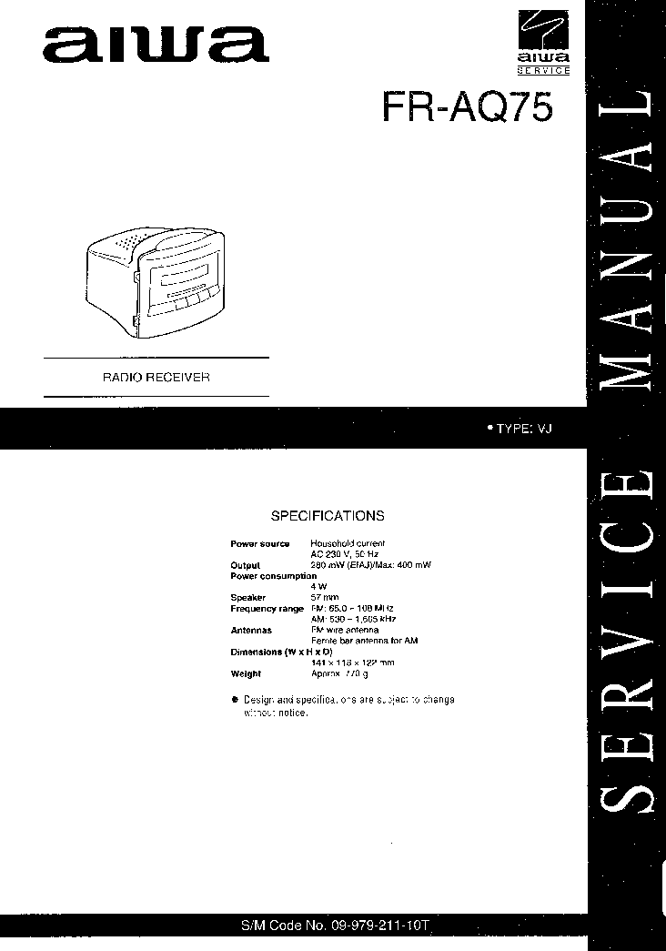 AIWA CX-JDS10 SM Service Manual download, schematics