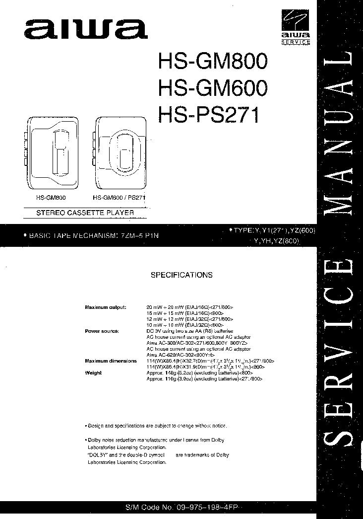 AIWA NSX-R50 NSX-R51 Service Manual download, schematics