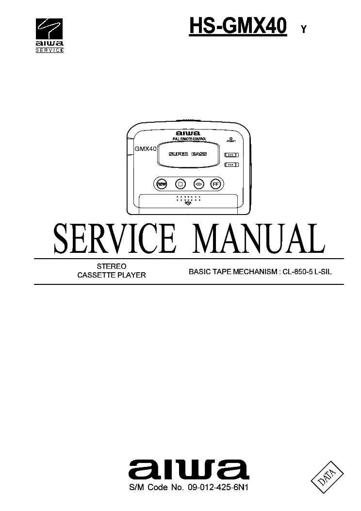 AIWA HS-GMX40 Service Manual download, schematics, eeprom