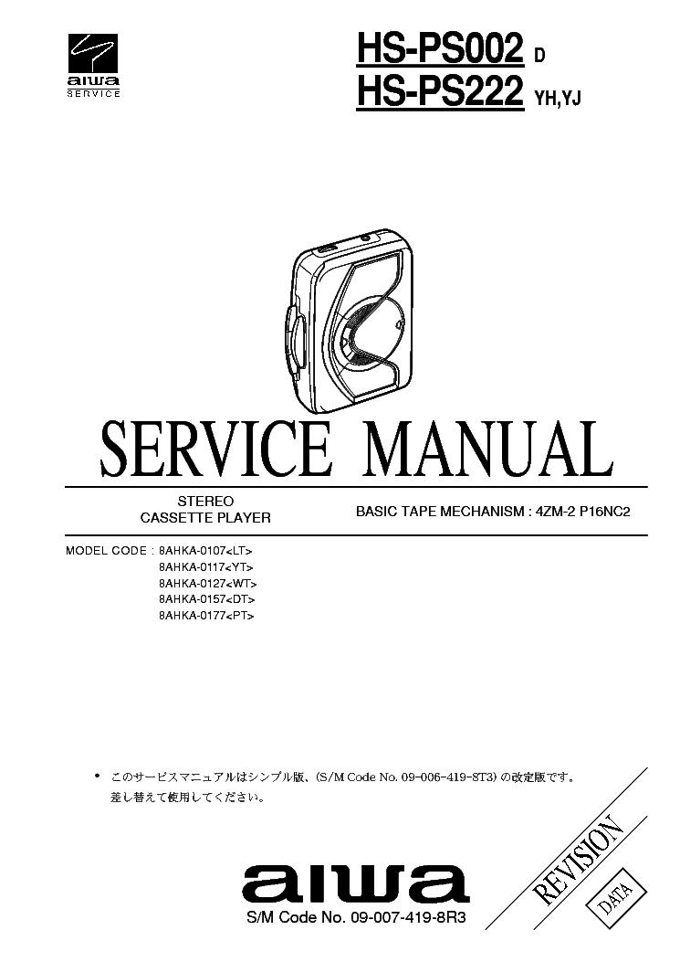 AIWA AV-D30 AV-D50 AV-DV70 Service Manual free download