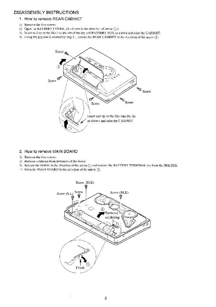 AIWA HS-PX487 Service Manual download, schematics, eeprom