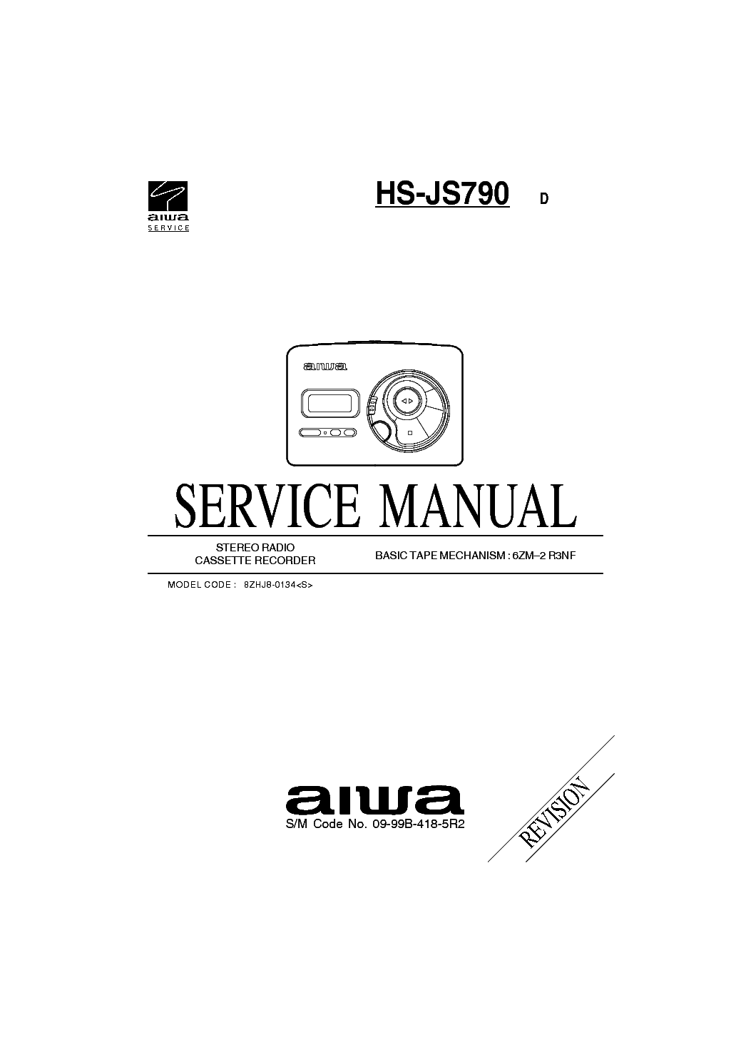 AIWA NSX-S888 NSX-S898 REV Service Manual free download