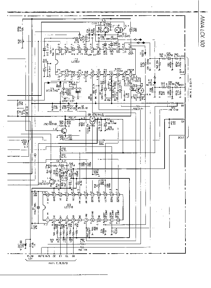 AIWA LCX-100 SCH Service Manual download, schematics