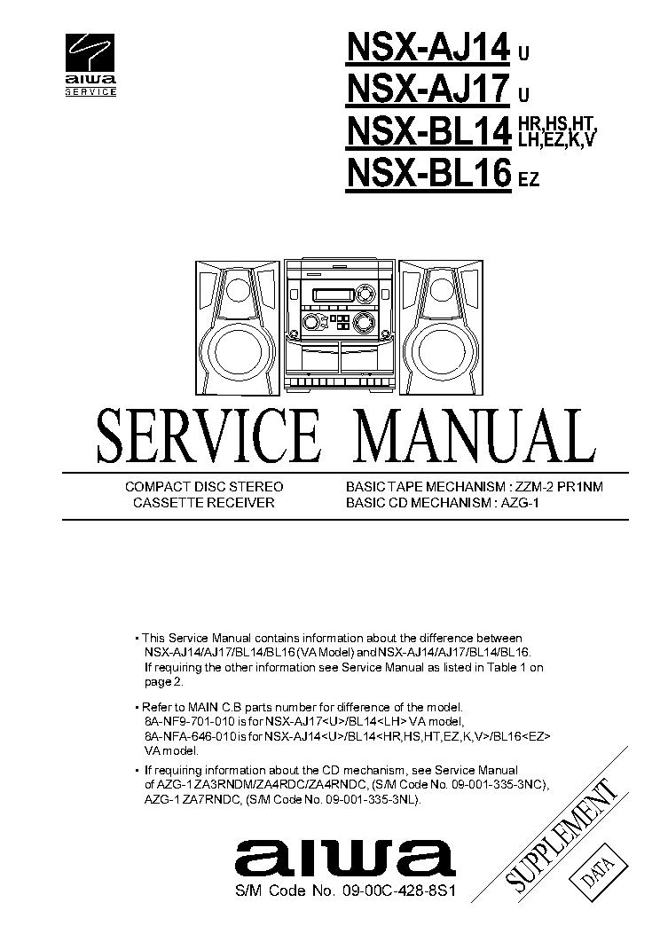 AIWA Z-D3100M SM Service Manual download, schematics