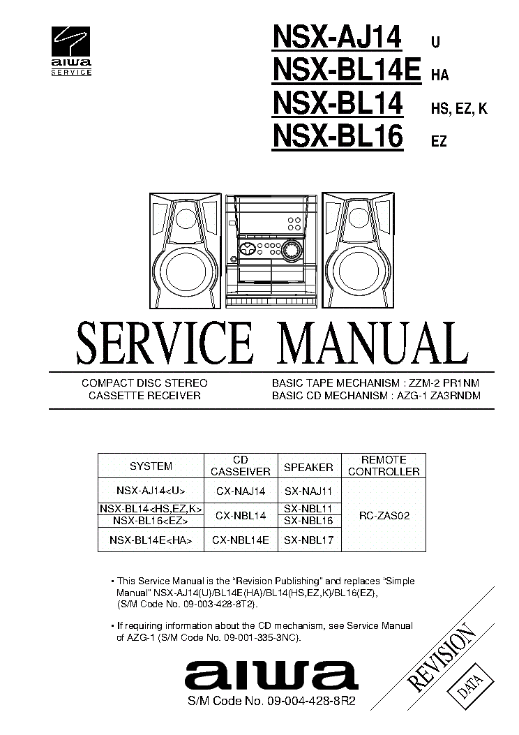 AIWA MX Z3300 SCH Service Manual download, schematics
