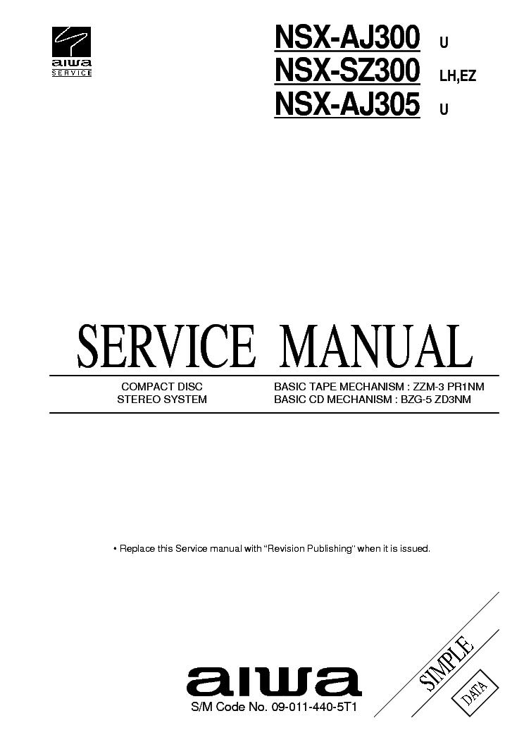 AIWA NSX-R50 NSX-R51 Service Manual free download