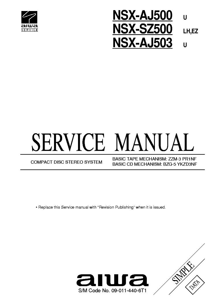 AIWA NSX-D656R NSX-D757 NSX-D757R Service Manual free