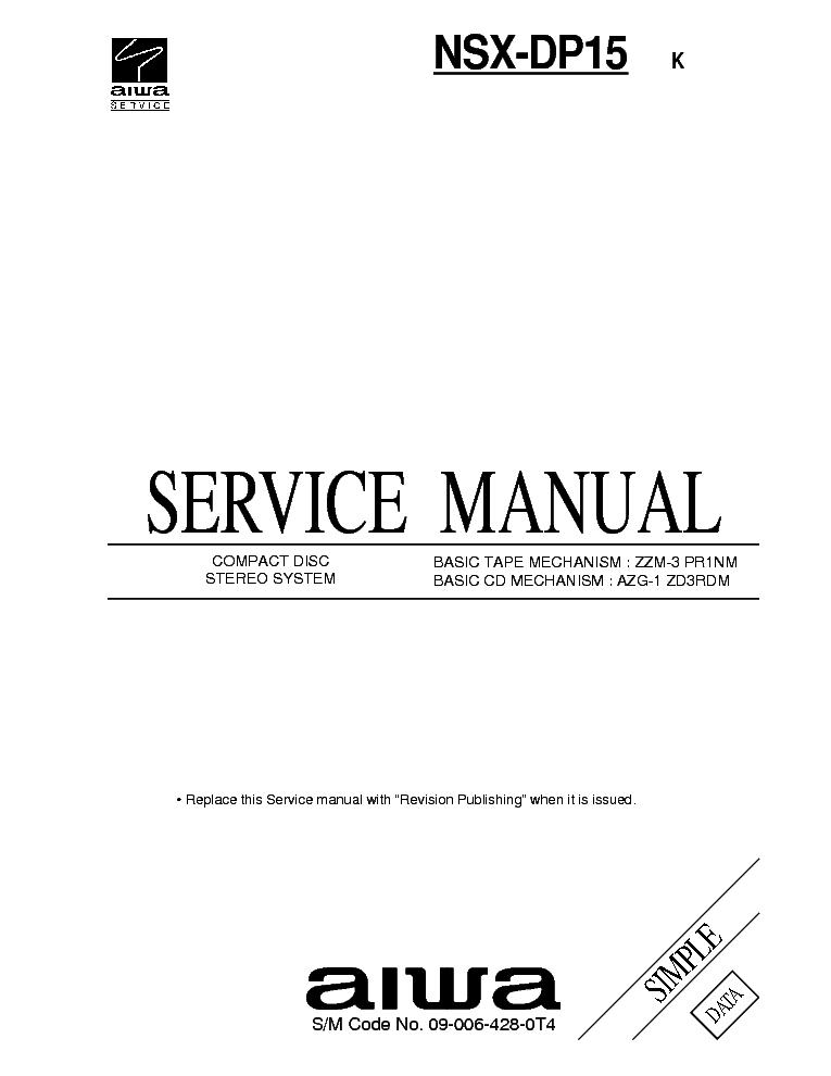 AIWA XR-MD200 201 Service Manual download, schematics