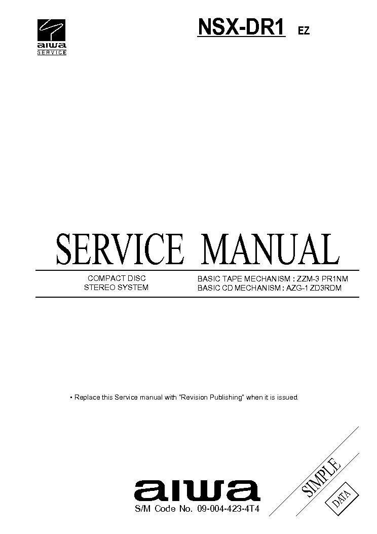 AIWA NSX-E5M Service Manual free download, schematics