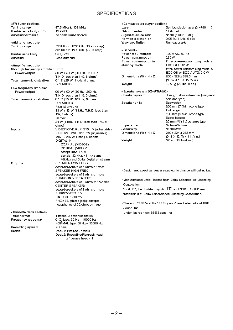 AIWA NSX-DS8 Service Manual download, schematics, eeprom