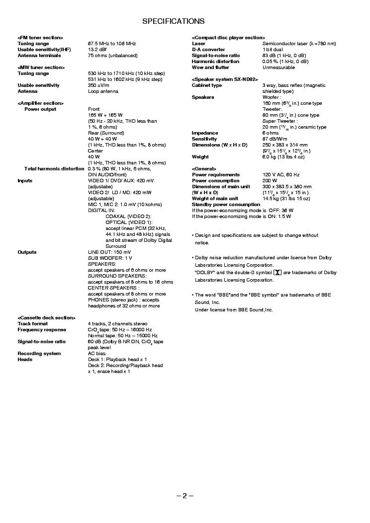 AIWA NSX-DST717 Service Manual download, schematics