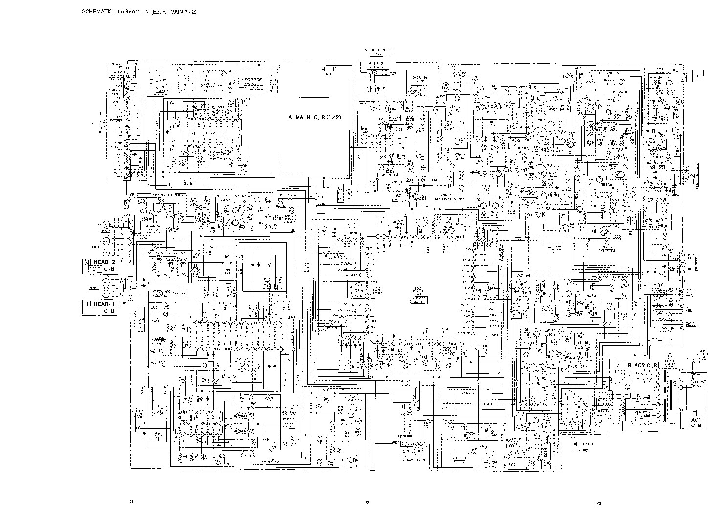 AIWA XH-N6 Service Manual download, schematics, eeprom