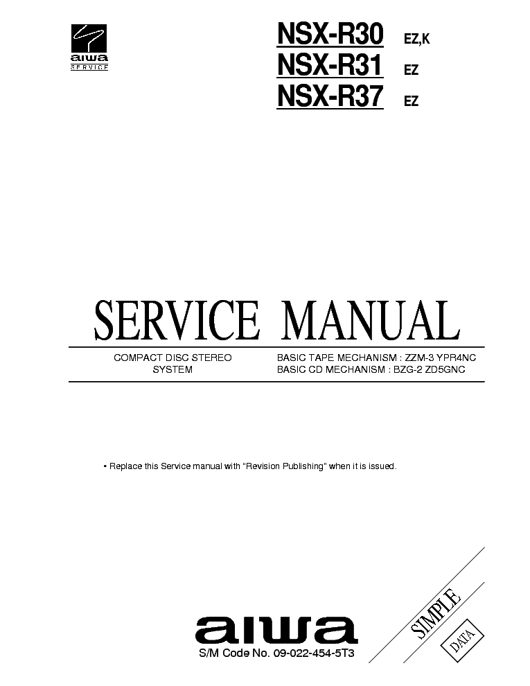 AIWA AM-R10 Service Manual download, schematics, eeprom