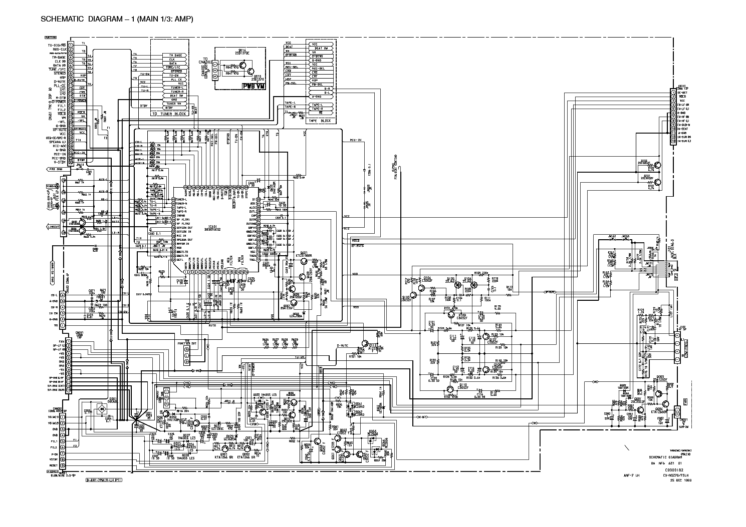 AIWA NSX-S70 Service Manual download, schematics, eeprom
