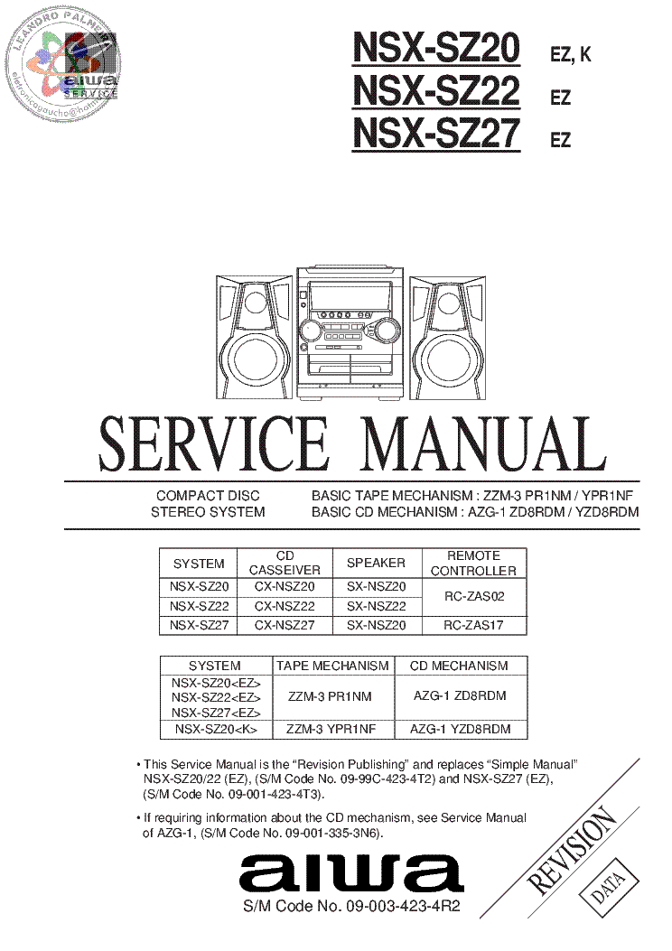 AIWA XH-N6 Service Manual free download, schematics
