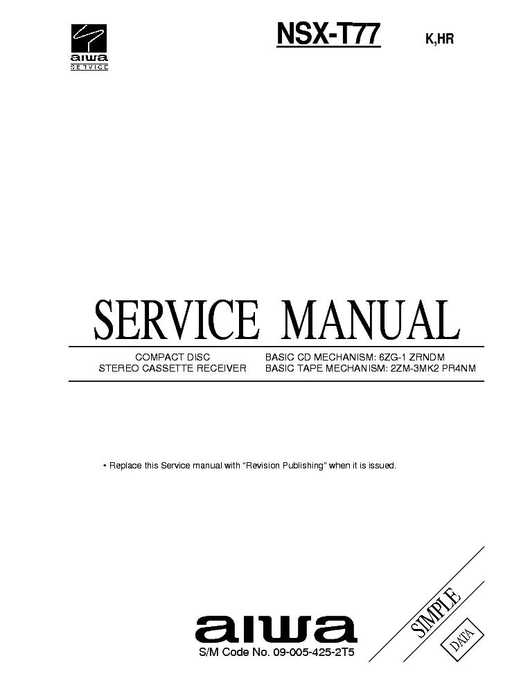 AIWA AV-D57 SM Service Manual free download, schematics